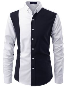 TheLees Mens Slim Fit Button Down Stretchy Long Sleeve Casual Shirts African Wear Styles For Men, African Shirts For Men, African Dresses Men, African Clothing For Men, Mens Clothing Styles, Nigerian Men Fashion, Indian Men Fashion, Mens Fashion Suits, Mens Suits