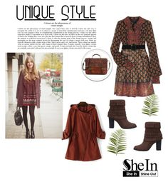 """""""SheIn 7/VIII"""" by nermina-okanovic ❤ liked on Polyvore featuring Anna Sui, Pier 1 Imports and shein"""