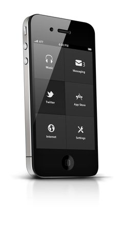 Phone UI Retina - Apocalipse by Ismail MESBAH, via Behance