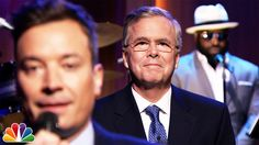 "Jeb Bush needed to break out of the GOP pack to begin his 2016 presidential quest, he joined The Tonight Show With Jimmy Fallon for its signature segment ""Slow Jam The News. Real Funny Videos, Late Night Talks, Political Ads, Johnny Carson, Happy May, Tonight Show, Interesting Reads, Jimmy Fallon, Sentences"