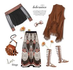 """Festival Trend: Fringe!"" by maitepascual ❤ liked on Polyvore featuring Temperley London, RetroSuperFuture, Alice + Olivia, Stuart Weitzman, Chloé and fringe"