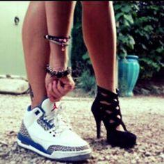 High heels to Jordans ❤
