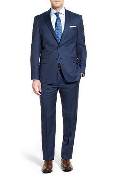 Men's Hart Schaffner Marx Classic Fit Stripe Wool Suit