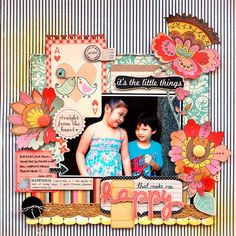Happy - Fancy Pants Designs - It's the Little Things Collection http://www.scrapbook.com/gallery/image/layout/5261007.html#rzX0AK3AubWhBd1o.99