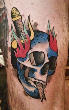 tattoo @grubykruk #tattoo #skull #tatuaz #tattooskull