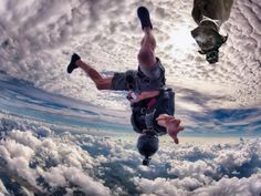 ...then he fantasied about skydiving amongst the clouds (with his GoPro so he can share his videos with his doggie friends)...