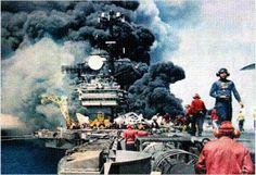 USS Forrestal fire. I was there. We lost a lot of people and a lot of aircraft. Everyone was involved, all 5000 of us. It was a horrific time.