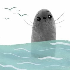 Hello, Seal! . . . #illustration #shape #draw #doodle #art #design #sketch #vcu #vcuarts #seal #ocean