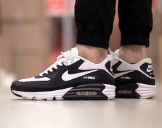 new concept 37b7d 2547d New Nike Air Max 90 Black Running Shoes Shop