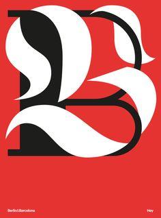Berlin & barcelona in Typography
