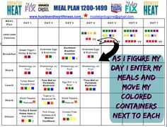 How to meal plan for 21 Day Fix (Country Heat, Hammer & Chisel, 22 Min Hard…