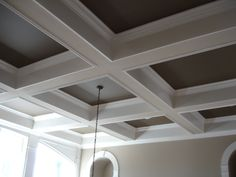 Coffered Ceiling inspiration for ceiling design ideas inspiration for false ceil. Coffered Ceiling inspiration for ceiling design ideas inspiration for false ceiling inspiration for Home Ceiling, Ceiling Beams, Coffered Ceilings, Ceiling Trim, Dark Ceiling, Office Ceiling, Bedroom Ceiling, Living Room Ceiling Ideas, Ceiling Paint Ideas
