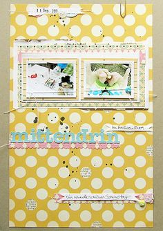 #scrapbooking page by Janna Werner >>> use the length of scrapbook, by sentences of word.