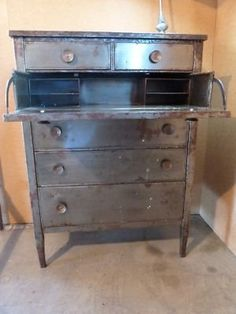 Antique Metal Tall Boy Dresser Another One Of Those Things I Have No Idea Where Would Put It But Feel Like Must