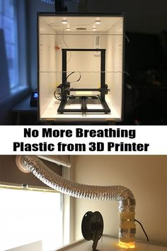 This video is about how to make an affordable Printer Enclosure (from an IKEA cabinet) that keeps you safe from breathing harmful plastic fume (including UFP and VOC). No More Breathing Plastic Fume from Printer ! Video by Curiousor Make 3d Printer, Metal 3d Printer, 3d Printer Kit, 3d Printing Diy, 3d Printer Designs, 3d Printer Projects, 3d Printing Service, Cnc Projects, Diy 3d Drucker