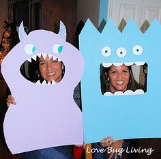Monster party photo props