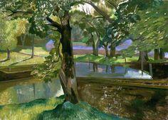 John Nash, Walled Pond, Little Bredy, Dorset (1923)