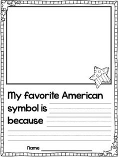 It is time to learn all about our American Symbols this week! American Symbols Mini Video We watched this free video on Brai. Kindergarten Social Studies, Social Studies Activities, Teaching Social Studies, Kindergarten Writing, Teaching Writing, Student Teaching, Teaching Ideas, National Symbols Kindergarten, History Activities