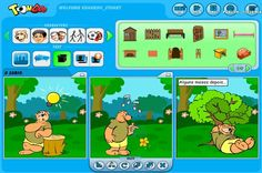 Video tutorial showing a website that allows pupils to create simple, content rich comic strips.