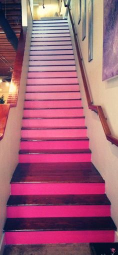 Pink Ombre Stairs...so cool