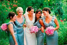 Blue Bridesmaid Dresses for Outdoor Bridal Ideas