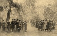 This picture is of the first Midway Meeting Homecoming which was in 1887.