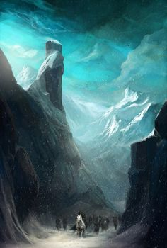 "fantasy-art-engine: "" Mountainous by Bnochadams "" High Fantasy, Fantasy World, Fantasy Art, Fantasy Landscape, Landscape Art, Illustrations, Illustration Art, Fantasy Places, Fantasy Setting"
