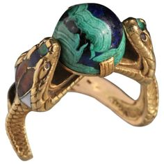 CHARLES BOUTET DE MONVEL Symbolist Serpent Ring at 1stdibs