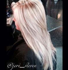 Blonde with light caramel highlights