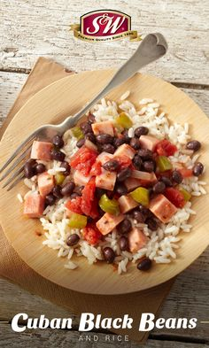 Savor zesty Latin flavors with just 15 minutes of prep! Cuban Black Beans and Rice makes for a filling yet low calorie post-workout meal. Cuban Black Beans, Black Beans And Rice, Cuban Recipes, Easy Recipes, Gluten Free Recipes For Dinner, Post Workout Food, Low Calorie Recipes, International Recipes, Quick Easy Meals