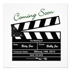 Movie Clapboard Wedding Save the Date Personalized Announcement This DealsReview on the This website by click the button below...