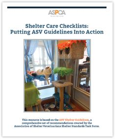 This one's a self-scored report card for your shelter! See at a glance where your shelter meets or exceeds standards, where improvements can be made, and where immediate changes should be implemented.