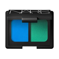 """2013 The eyes have it: Duo Eyeshadow in Mad Mad World by François Nars. Intense cyan and bright green make up this eyeshadow duo created by François Nars for the summer season. These vibrant, ultra-blendable colors stand out against a perfect summer tan. Duo Eyeshadow, """"Mad Mad World"""", François Nars"""
