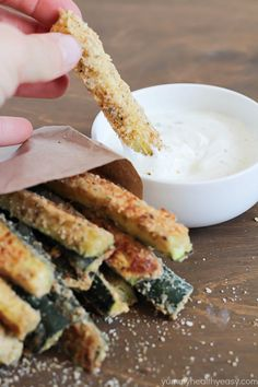 Zucchini Sticks  Food Bloggers Favorite Recipes Roundup -  A Collection of awesome recipes from TOP food bloggers! | foodfaithfitness.com