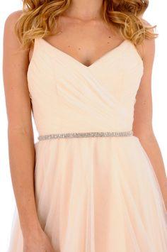 213- June Beaded Sash- crystal sash, rhinestone sash, wedding sash, bridal belt. $98.00, via Etsy.