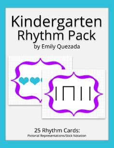 Mrs. Q's Music Blog: Mrs. Q's Resources: Kindergarten Rhythm Pack (coupon for product in the Freebies section of my blog)