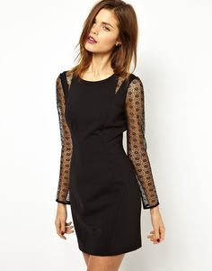 Karen Millen Dress with Micro Lace Embellishment