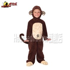 Hot Halloween Children's cosplay monkey costume for children A1944
