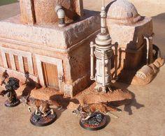 Table Tatooine pour warhammer 40K - JAKO Warhammer 40k, Warhammer Terrain, Warhammer Fantasy, Star Wars Imperial Assault, Lead Adventure, Sci Fi Miniatures, Wargaming Terrain, Decoration, Custom Stuff