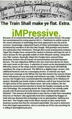 The Ankh-Morpork Times, The Train Shall make ye flat. Extra. iMPressive. by David Green