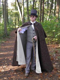 Steampunk-Dickens-Victorian cloak 25a by Pirates Cave