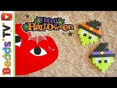할로윈데이 꼼데가르송 펄러비즈 만들기 halloween Comme des Garcons perler beads pattern - YouTube