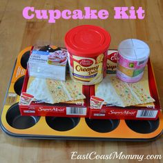 A cupcake kit is a cute idea for a birthday gift for a kid. This site has FIVE fabulous ideas!
