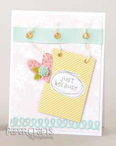 Create a sweet card to let someone know you are thinking of them; Betsy Veldman - Paper Crafts & Scrapbooking Handmade Cards