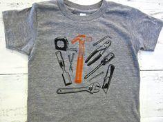 Tool time toddler t-shirt. American apparel kids by Sweetpeaandboy 20$