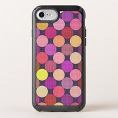Coral Pink Orange Red Purple Polka Dots Pattern Speck iPhone Case - classy gifts custom diy personalize