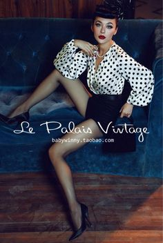 Le Palais Vintage (Limited Edition) 1950's Black and White Polkadots Playsuit - XS-XXL