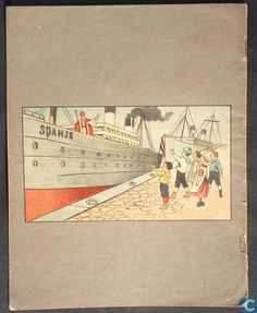 'Illustratie' uit het boekje, De stoomboot van Sint Nicolaas