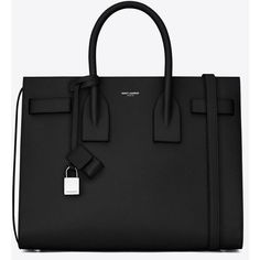 Saint Laurent Classic Small Sac De Jour Bag ($2,310) ❤ liked on Polyvore featuring bags, handbags, shoulder bags, sac, detachable key ring, real leather handbags, yves saint laurent purses, pocket purse and leather key ring