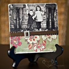 creative picture frames   Create these gorgeous photo tiles with a linen textured finish in a ...